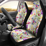 Floral Math Car Seat Covers