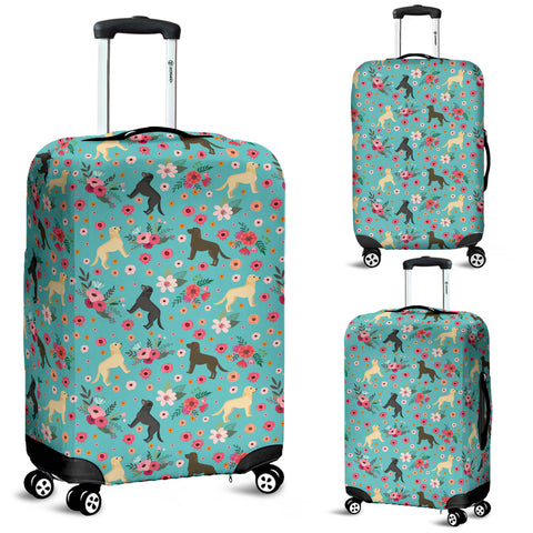 Labrador Retriever Flower Luggage Cover