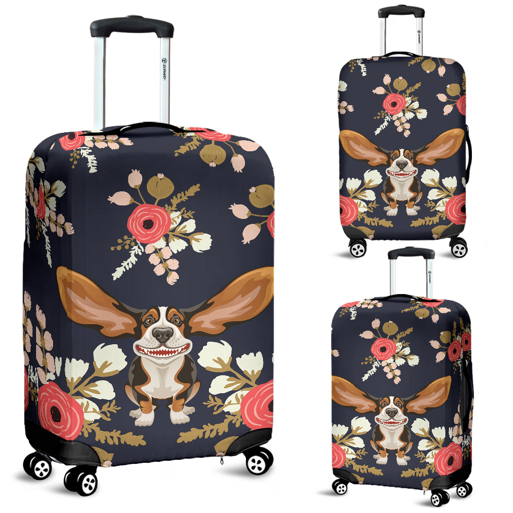 Floral Hound Luggage Cover