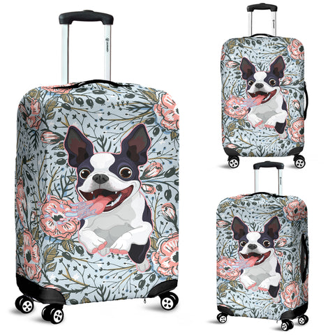 Goofy Boston Terrier Luggage Cover