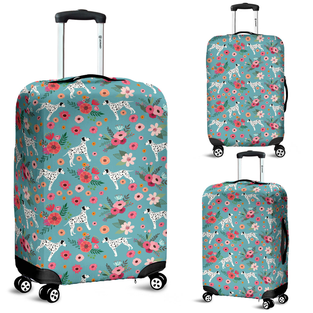 Dalmatian Flower Luggage Cover