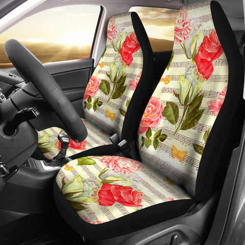 Music Roses Car Seat Covers