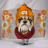 Cool Bulldog Hooded Blanket