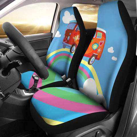 Rainbow Hippie Car Seat Covers