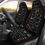 Colorful Math Car Seat Covers