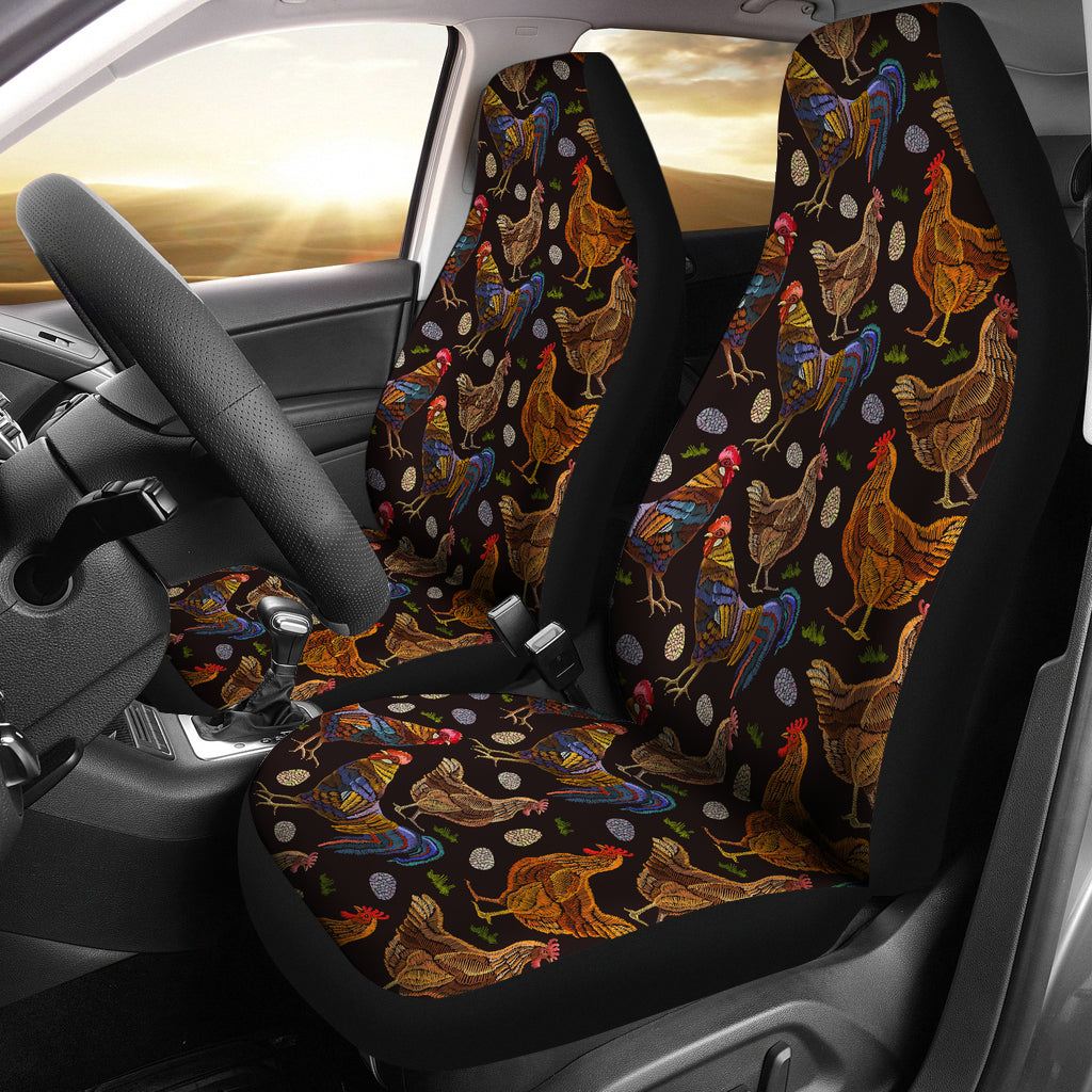 Chicken Family Car Seat Covers Groove Bags