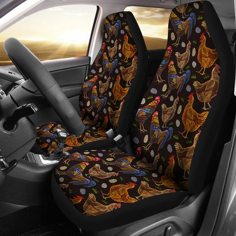 Chicken Family Car Seat Covers