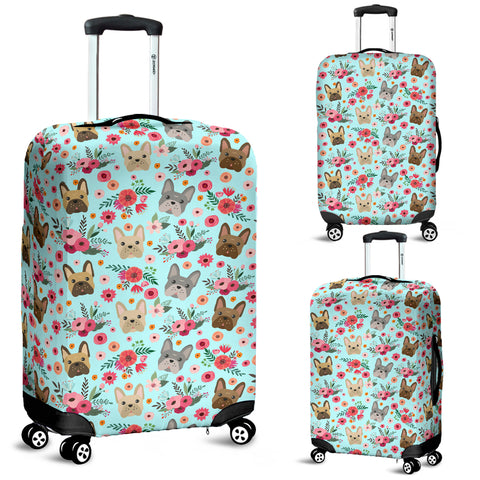 French Bulldog Flower Luggage Cover
