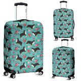 Bernese Mountain Dog Flower Luggage Cover