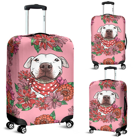 Illustrated Pit Bull Luggage Cover