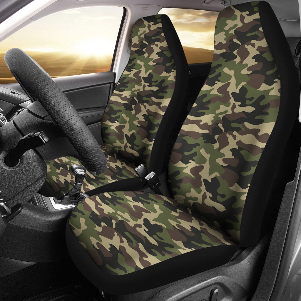 Army Camo Car Seat Cover Groove Bags