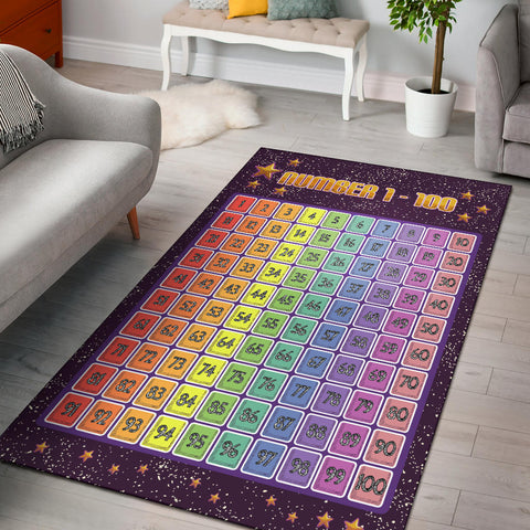 Star Numbers Chart Area Rug