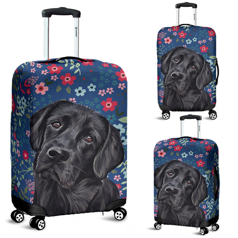 Black Lab Sweetheart Luggage Cover