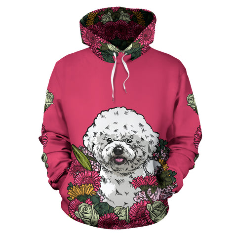 Illustrated Bichon Frise Hoodie