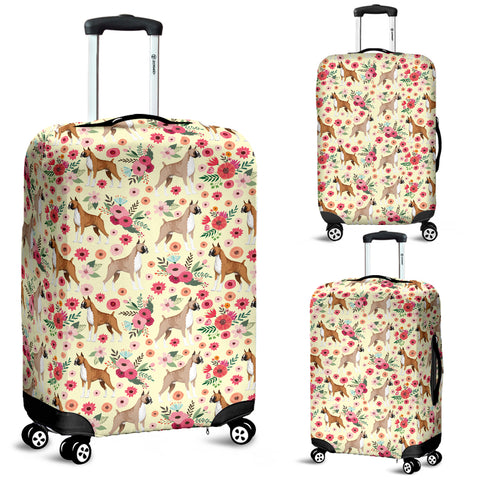 Boxer Flower Luggage Cover