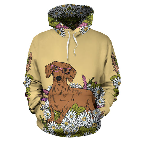 Illustrated Dachshund Hoodie