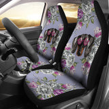 Floral Dachshund Car Seat Covers