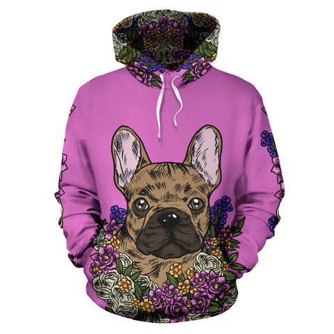 Illustrated French Bulldog Hoodie