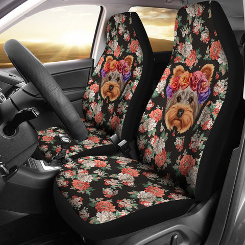 Floral Yorkie Car Seat Cover-Clearance