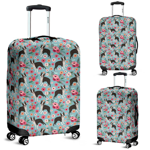 Boston Terrier Flower Luggage Cover