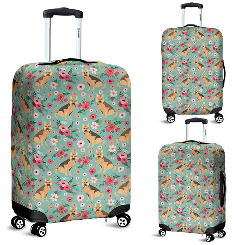 German Shepherd Flower Luggage Cover
