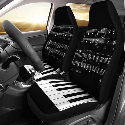 Musical Piano Car Seat Covers