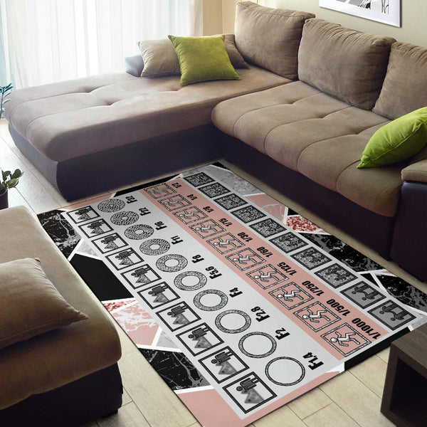 Marble Photography Diagram Area Rug