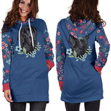 Black Lab Sweetheart Hoodie Dress