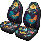 Floral Rooster Car Seat Cover