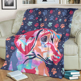 Watercolor Dachshund Blanket