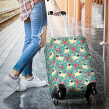 Pug Flower Luggage Cover