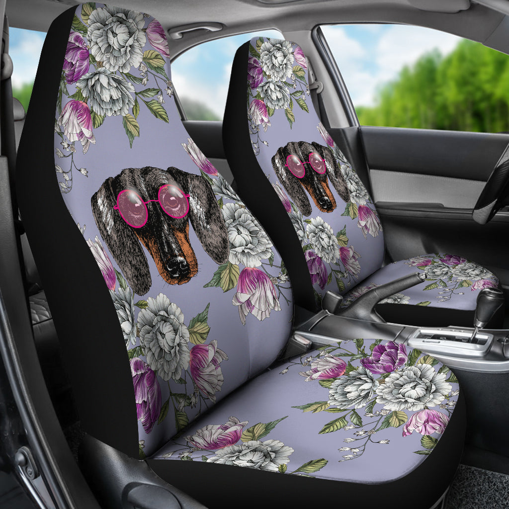 Floral Dachshund Car Seat Covers Groove Bags