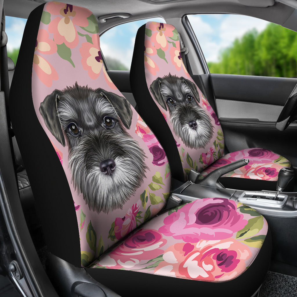 Schnauzer Puppy Car Seat Covers Groove Bags