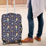 Corgi Mermaid Luggage Cover