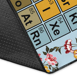 Blue Periodic Table Area Rug