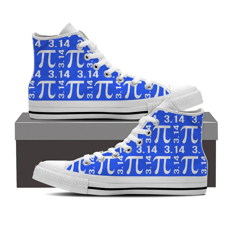 Math Pi High Top Shoes