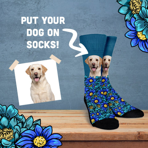 Custom Dog Portrait Socks