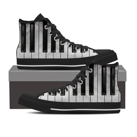 Piano Keyboard High Top Shoes