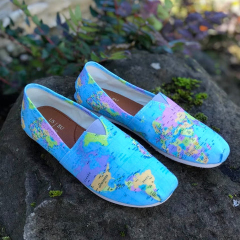 Geography Globe Casual Shoes