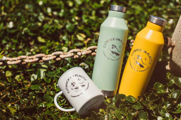'CUTBACK ON PLASTIC' MIZU BOTTLE & CAMP CUP