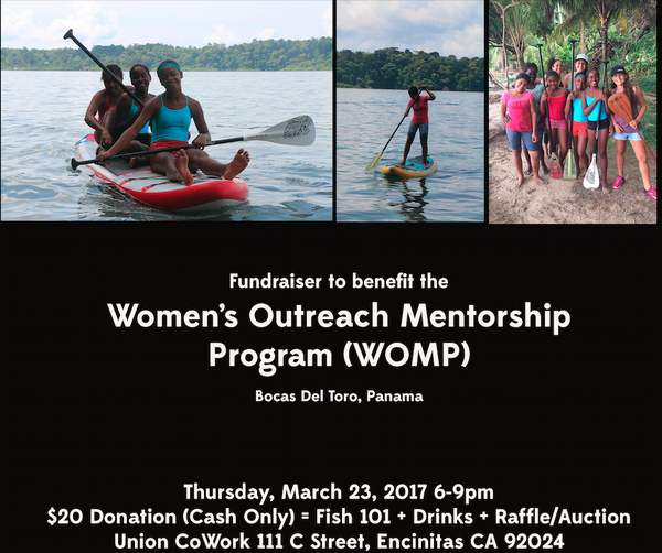 WOMP FUNDRAISER EVENT IN ENCINITAS 3/23/17