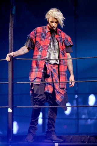 Justin Bieber Flannel Check Shirt Purpose Tour