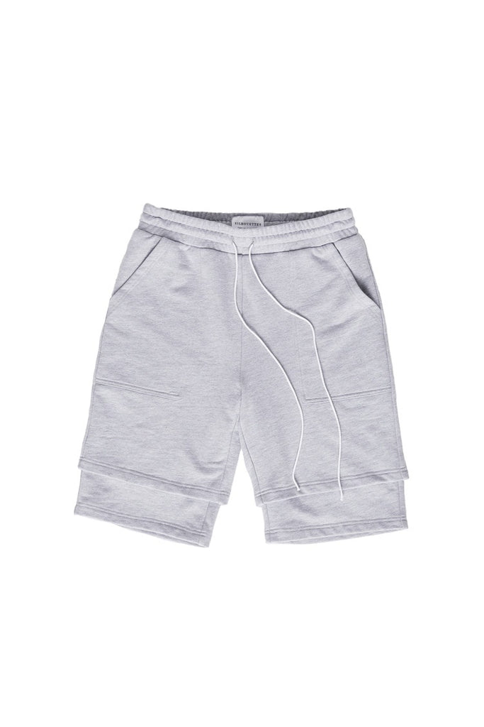 KHND STUDIOS Double Layered Shorts - Grey