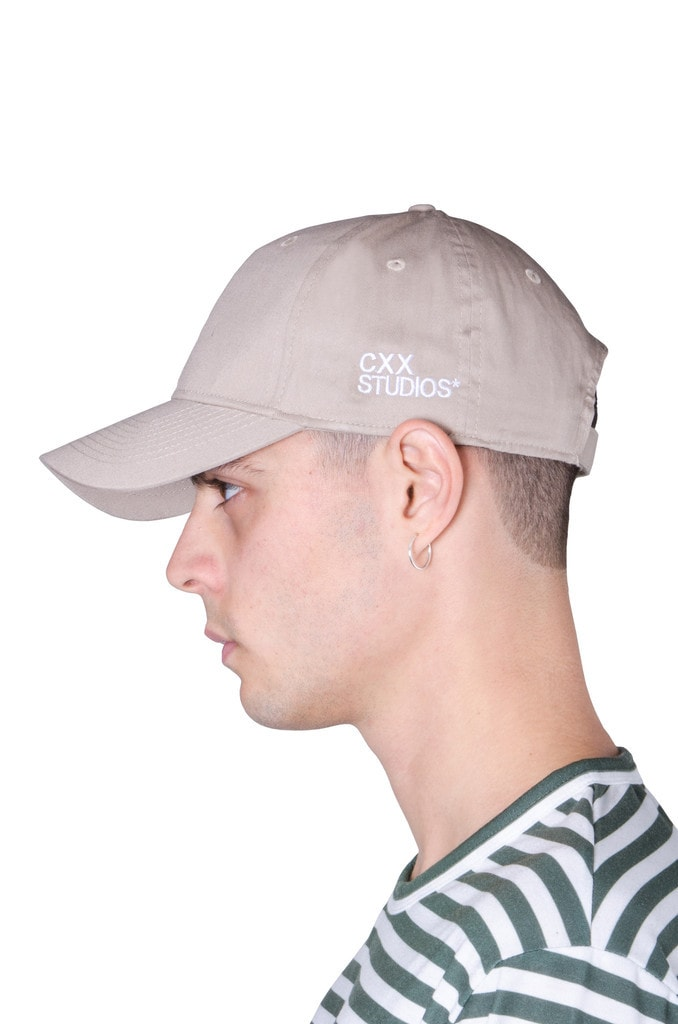 THE CXX - Curved Brim Baseball Cap - Bone