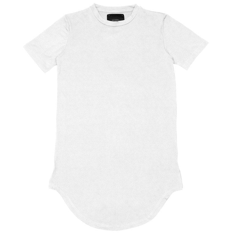 'Augmented' Scoop T-Shirt - White