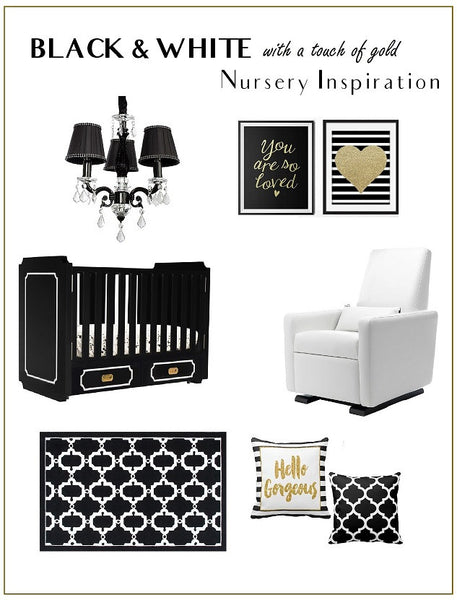 Black & White with a Touch of Gold - Nursery Inspiration