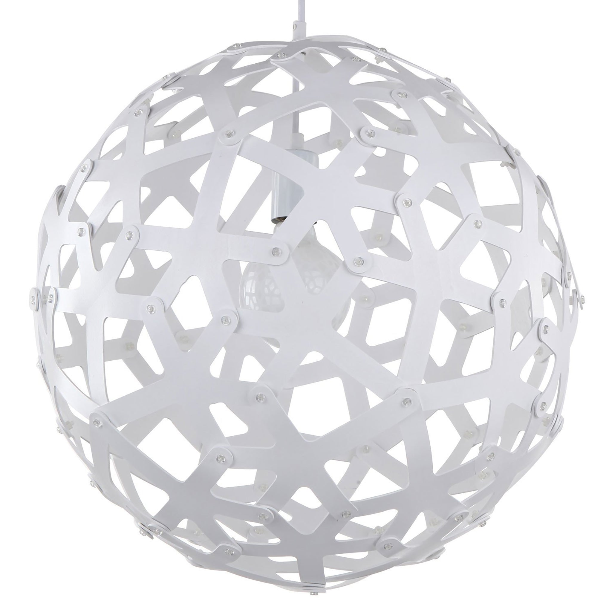 large wood sphere light fixture white
