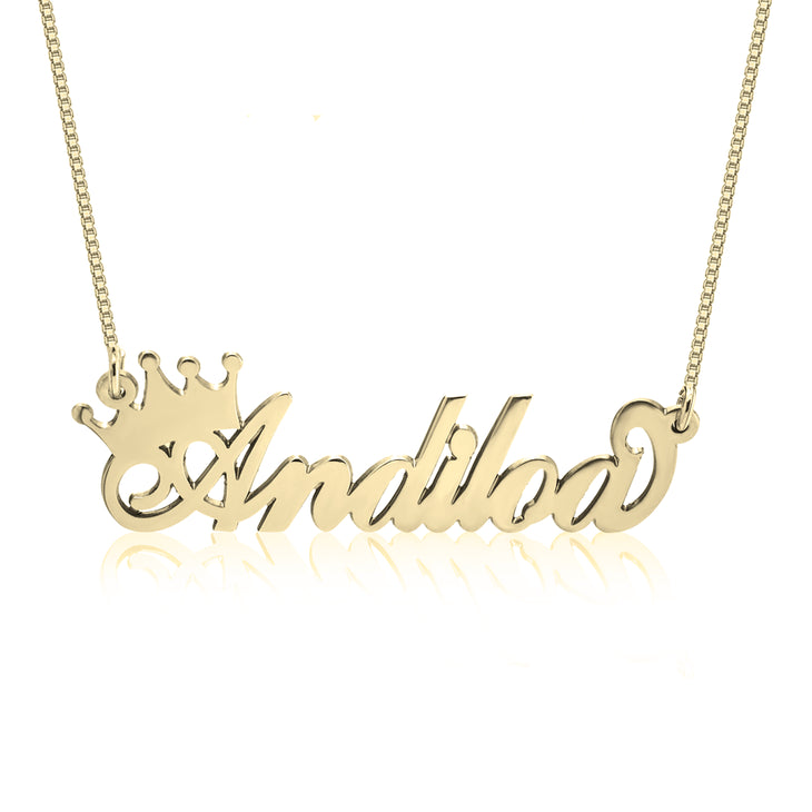 Classic Crown Name Necklace