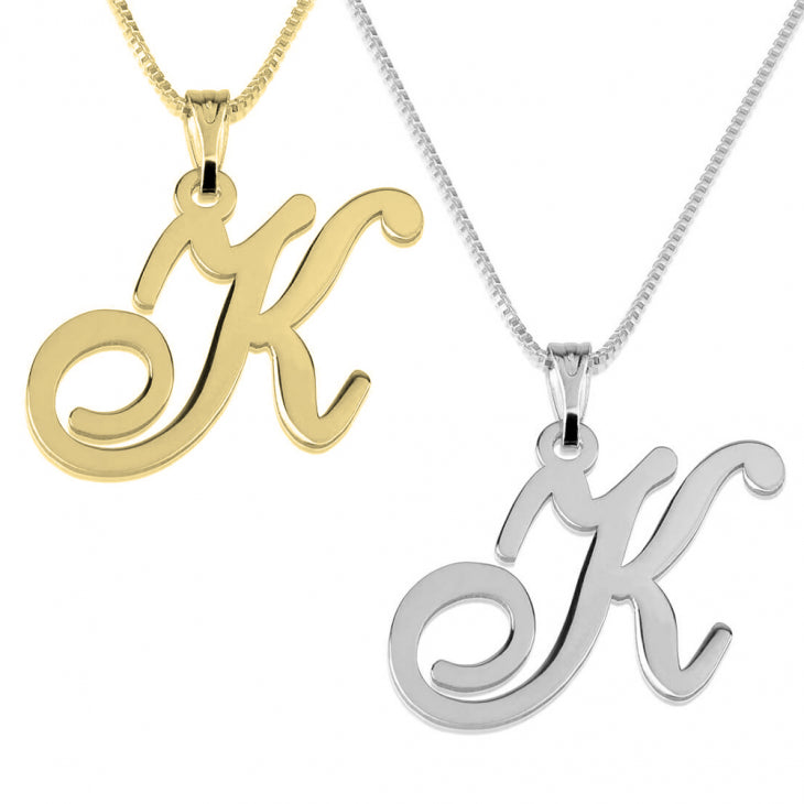 14k Classic Initial Necklace