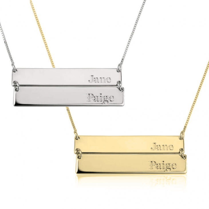 Double Stacked Bar Necklace
